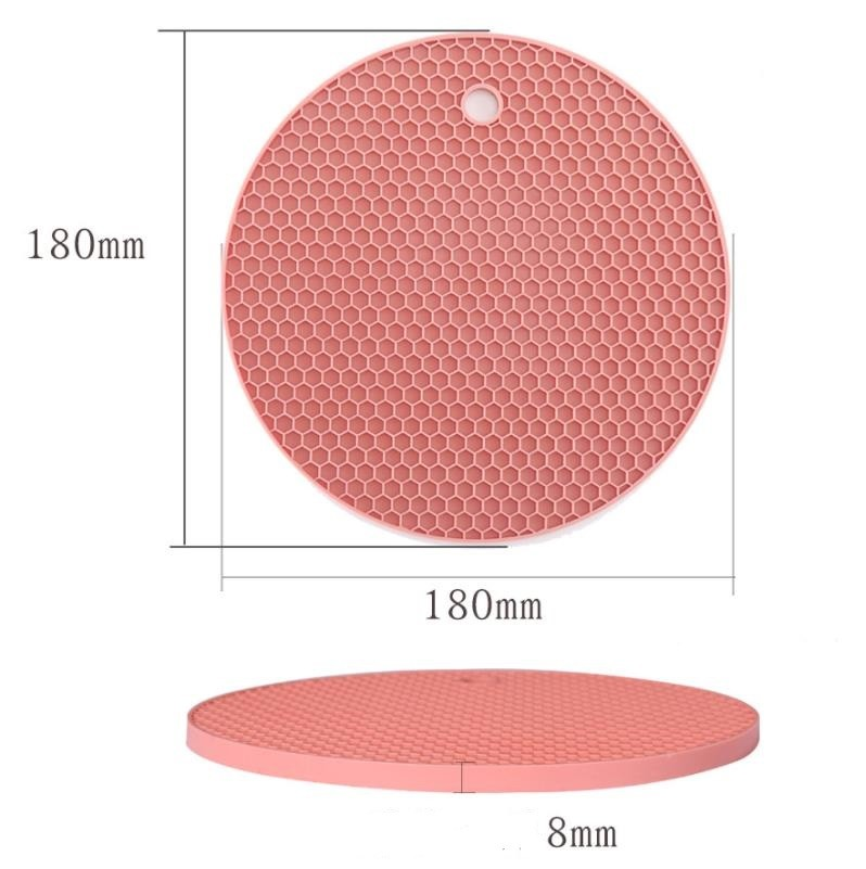 Fun 8MM Thick Silicone Kitchen Tools Mat Safe Accessories For Dining Table