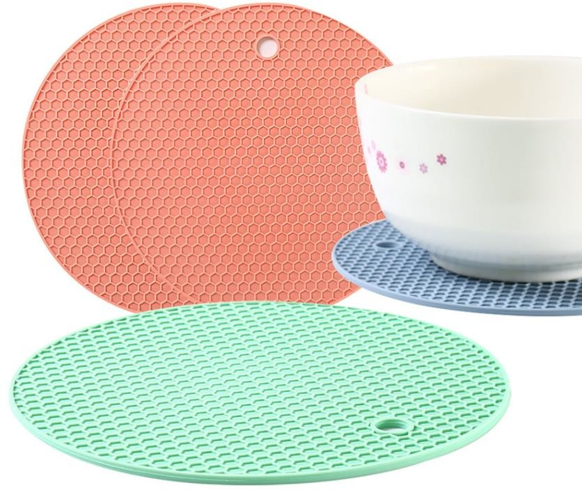 Thikcened Core Silicone Utensils , Silicone Feeding Mat 3MM Anti Bacteria