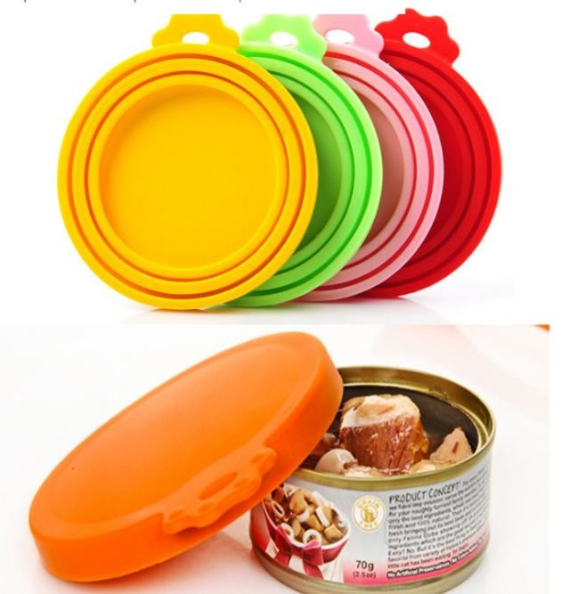 Excellent Sealing Unique Kitchen Gadgets , Pet Food Silicone Can Lids Seamless