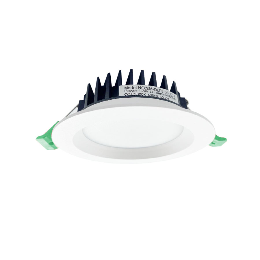 90mm Cut-out Aluminum Coated Plastic Tri-colour Slim Downlight with Recessed Fascia Featured Image
