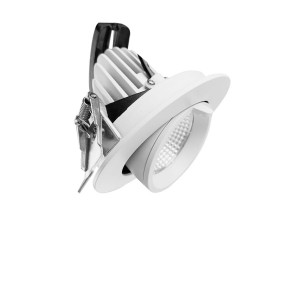 110mm Cut-out Recessed 20W Adjustable Gimbal Downlight