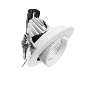 145mm Cut-out Recessed 40W Adjustable Gimbal Downlight