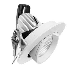 175mm Cut-out Recessed 60W Adjustable Gimbal Downlight