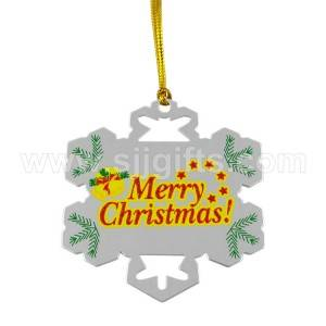 Etched Through Christmas Ornament