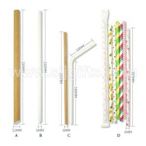 Biodegradable Paper Drinking Straws
