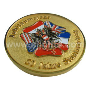 Ordinary Discount Cap Badge - Die Struck Brass Coins – Sjj