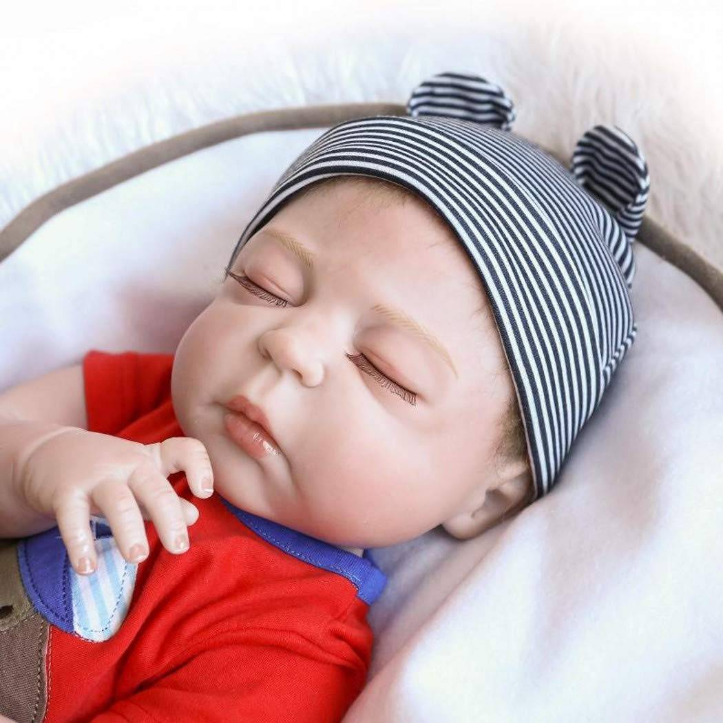 Factory wholesale Rebirth Doll - ZIYIUI Real Looking 18 inch Reborn Baby Dolls Full Body Silicone vinyl Realistic Reborn Baby Boy Real Newborn  – Geshuo