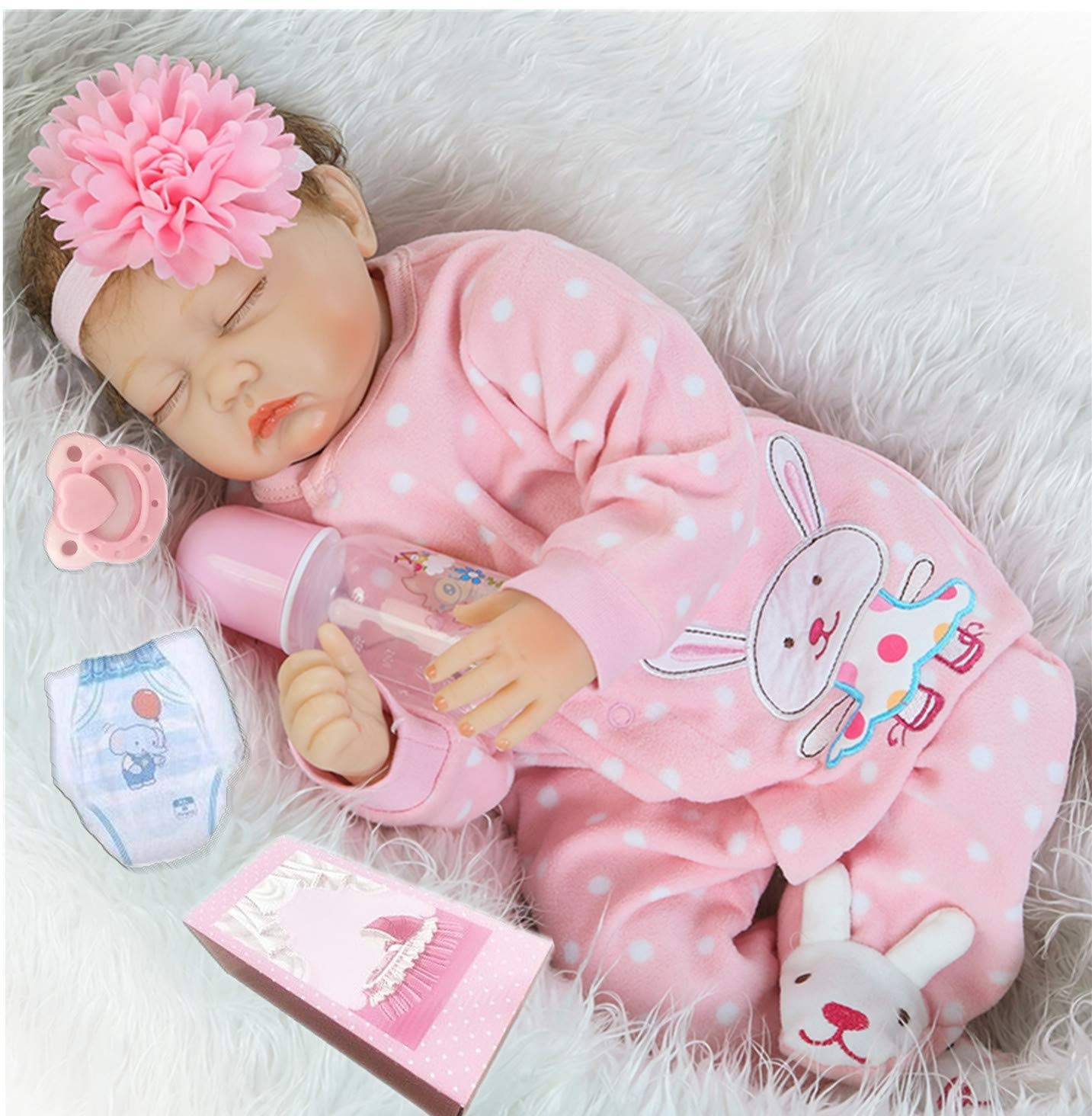 Short Lead Time for 22 Inch Reborn Clothes - Lifelike Reborn Baby Dolls Girl  – Geshuo