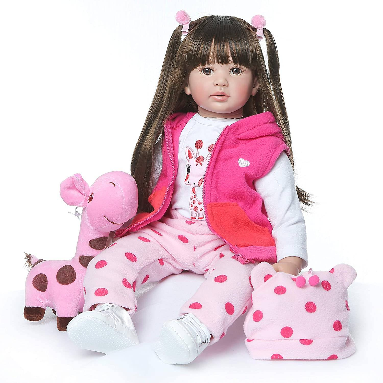 Short Lead Time for Baby Doll Look Like Real - ZIYIUI 24 Lifelike Silicone Soft Reborn Baby Doll 60 CM Girl Baby Doll Vinyl Kids Christmas Xmas Gift – Geshuo