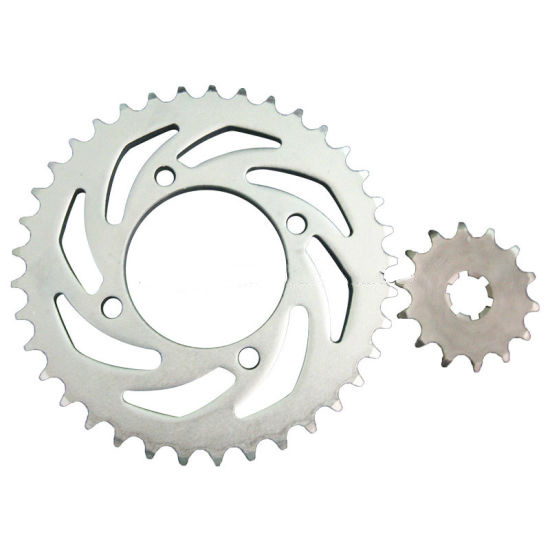 Q235 Steel Motorcycle Rear and Front Sprocket