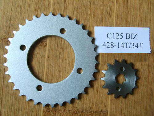 Motorcycle Sprocket with High Quality (C125 BIZ-428-34T/14T)