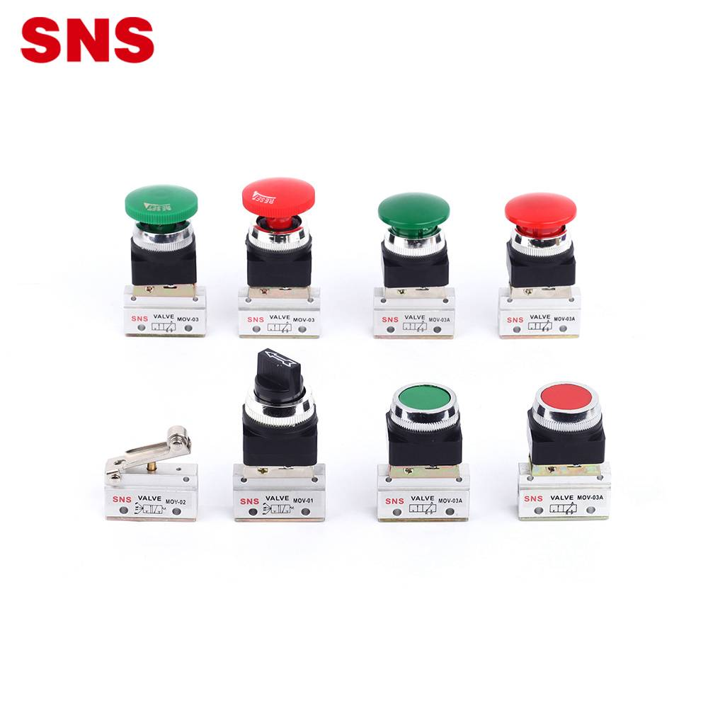 SNS MOV series pneumatic manual control roller type air mechanical valve