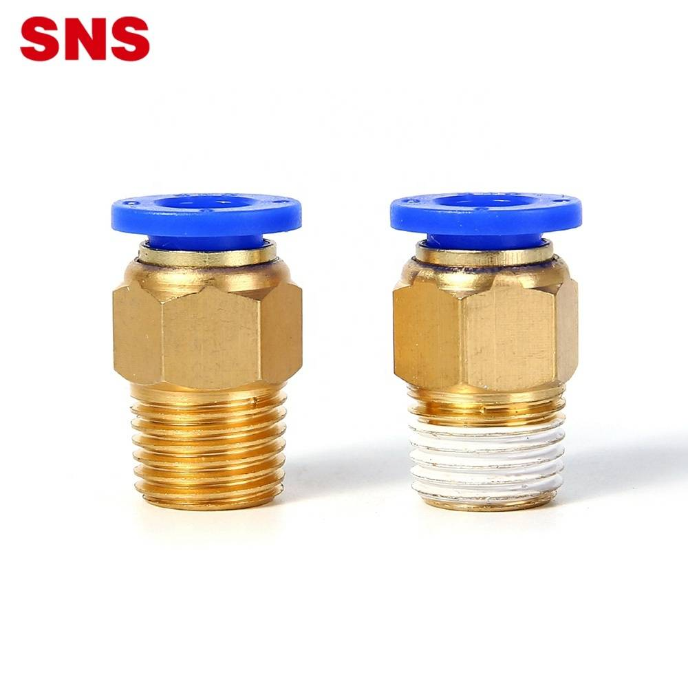 SNS SPC Series Male Thread Straight Brass Push To Connect Air Quick Pneumatic Fitting