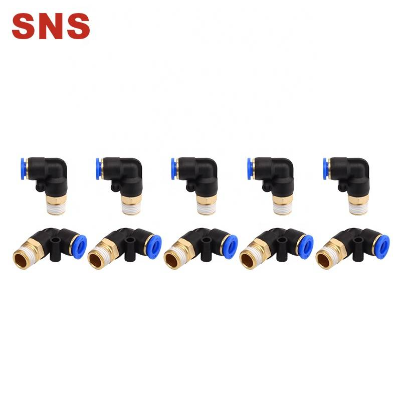 SNS SPL Series Male Elbow L type Plastic hose connector Push To Connect Pneumatic Air Fitting