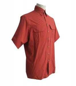 Comfortable Red Work Short Sleeve Shirt for Adult