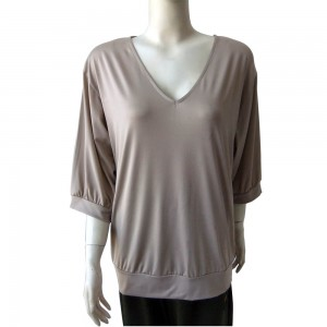 T-Shirts for Womenwith V-Neck, Middle-Length-Sleeves