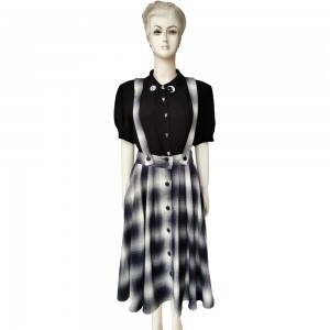 skirt with buttons suspender skirt fashion dress full skirt