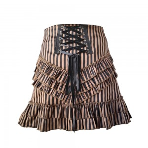 European and American Style Stripe Half Body Bag Hip Skirt
