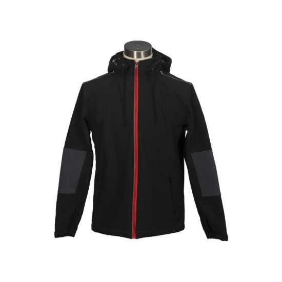 Durable Recycle Polyester Waterproof Laminated 4way Stretch Softshell Fabric Outdoor Jacket