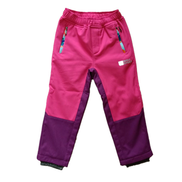 OEM Wholesale Outdoor Hiking Trousers Kids Windproof Softshell Pants Featured Image
