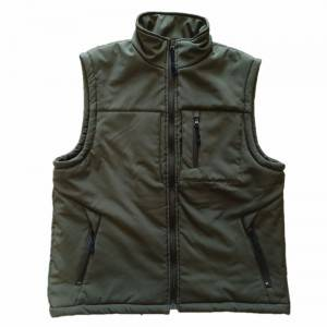 Custom waterproof windbreaker softshell outdoor vest for men