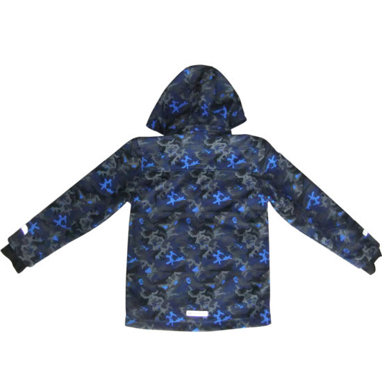Softshell Jacket Waterproof Breathable Camo Color for Children