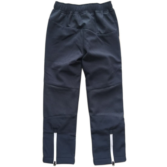 Child Outdoor Waterproof Pants Boy Fleece Linedtrousers Soft-Shell Sport Clothes