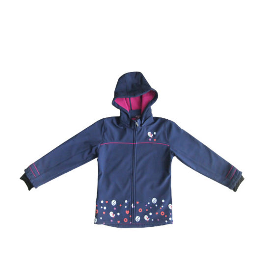Softshell Children Jacket with Breathable and Waterproof