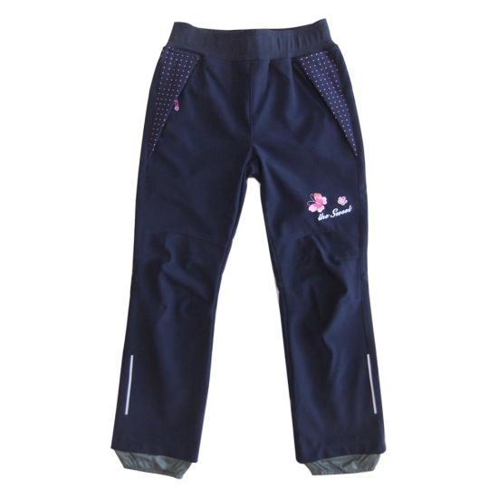Children Windproof Pants with Embroidery Sport Garment Casual Clothing