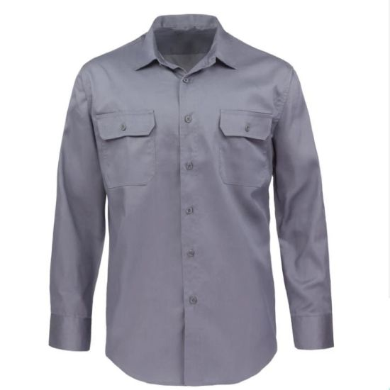 Fashion New Style Men′s Spring/Autumn Pure Soft Long-Sleeved Work Workwear Shirt