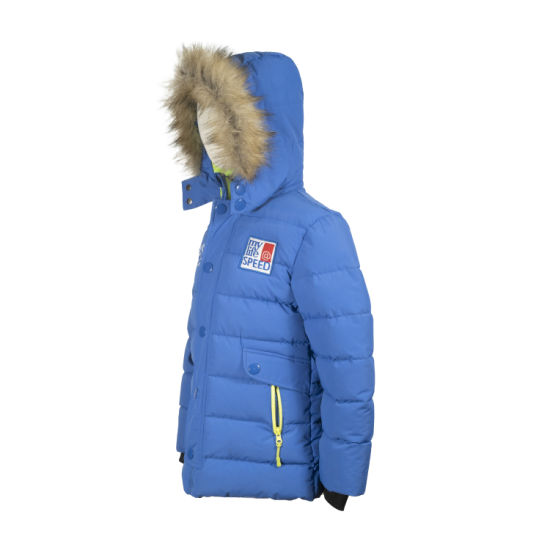 Kids Down Hoodie Puffer Jacket Padded School Coat Quilted Warm Filling Winter Casual Hooded Wholesale OEM