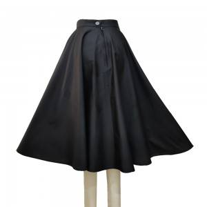 Cotton black skirt half body skirt summer dress ladies skirt
