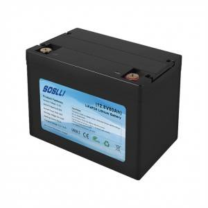 12V 80Ah LiFePO4 Deep Cycle Battery