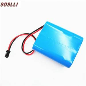 9.6V 2000mAH 18650 3s1p LiFePO4 battery pack for solar light