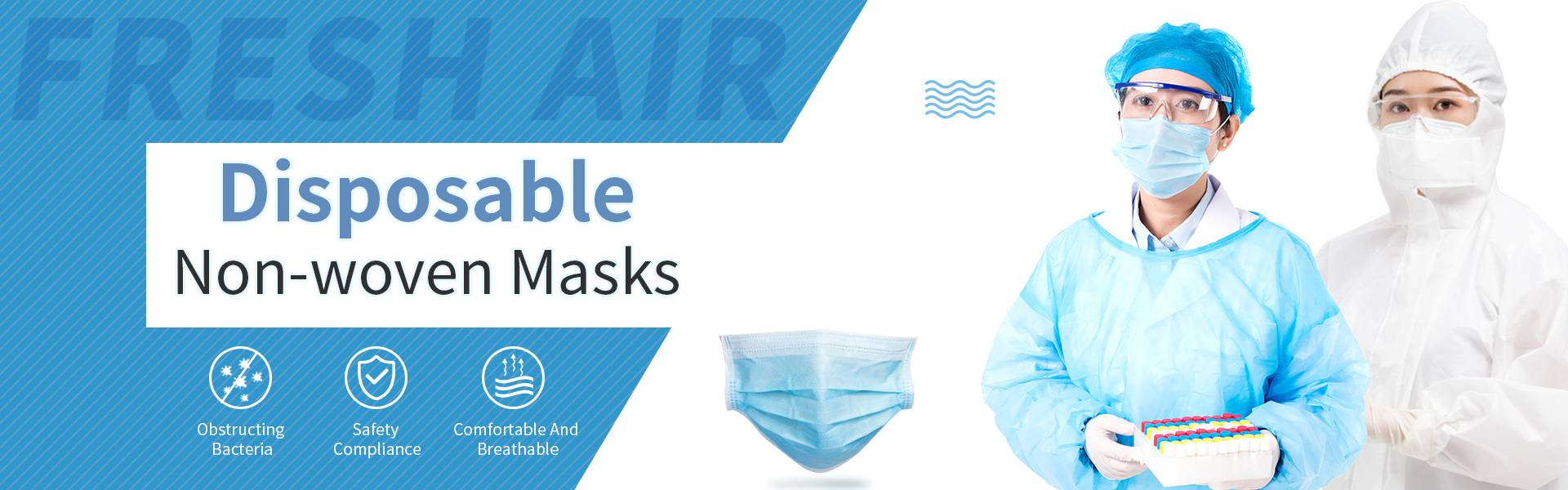 flat 3ply face mask