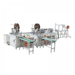 OEM/ODM Factory Non Woven Fabric Making Machine - Fully Automatic Flat Mask Making Machine 1+2 – Shouzheng