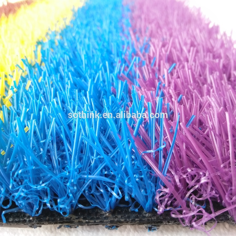 OEM China 55mm Artificial Turf - High quality 25m plie heigh blue landscaping artificial grass – Sothink