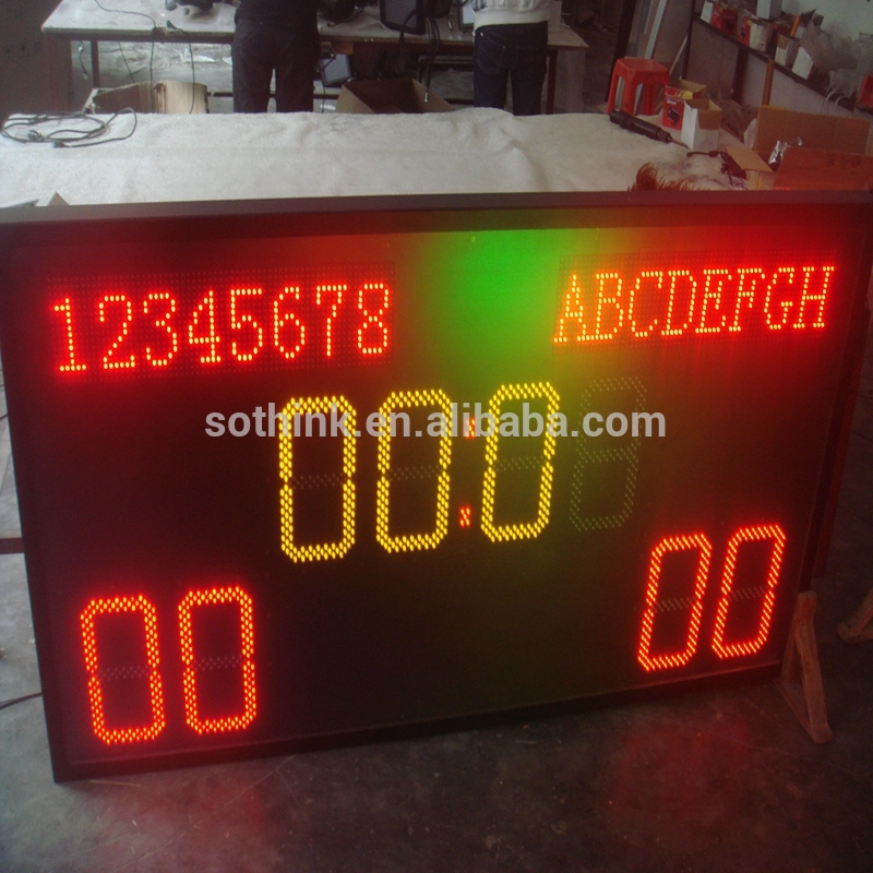 p10 indoor soccer LED scoreboard with LED team name