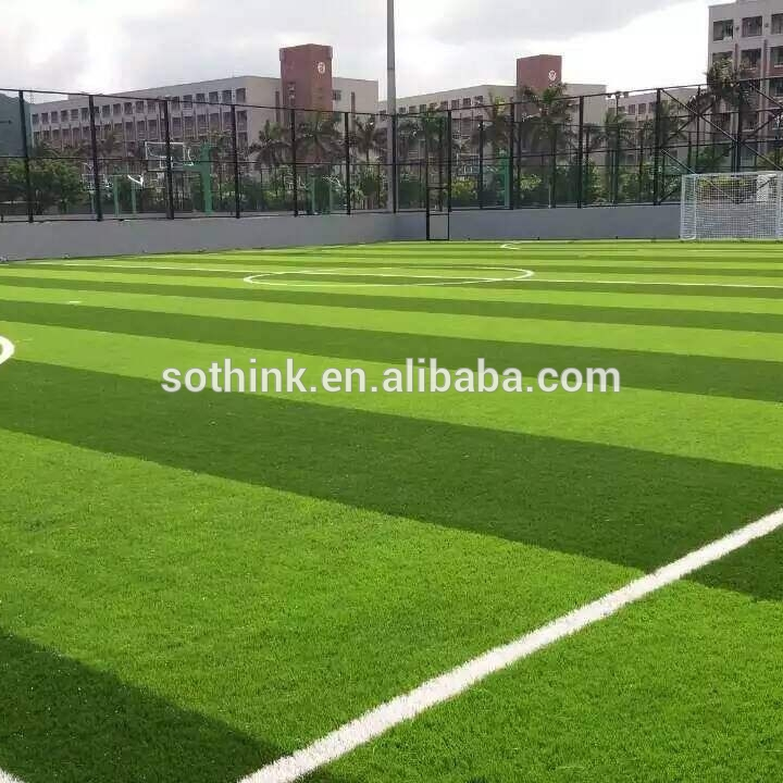 OEM Supply Installing Fake Grass - 50mm two tones artificial grass carpets for football stadium – Sothink