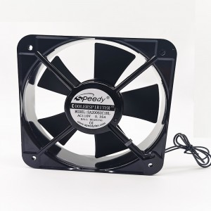 Leading Manufacturer for Ac Outdoor Unit Fan Grill - SA20060-1 Large airflow high CFM 350 2500 RPM ac axial fan 200x200x60mm 200mm  – Speedy