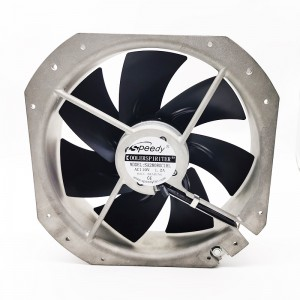 Free sample for Ac Without Fan - SA28080-2 280x280x80MM 110V 220V 28080 280mm 28cm AC Brushless Axial Flow Fan aluminum frame high pressure air Cooling fan – Speedy