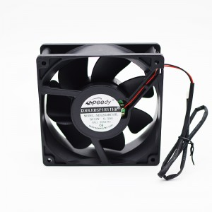 Super Lowest Price Solar Dc Table Fan - DC FAN SD12038-2 Ball bearing 12038 S7 S9 antminer fans 120X120X38mm 12V DC 6000RMP bitcoin miner cooling fan – Speedy
