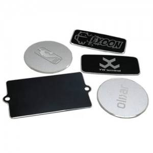 Waterproof Engraved Metal Labels Blank Anodize Tag Highlight Name Plate