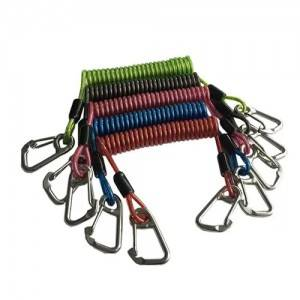 Deluxe Spring Coiled Lanyard Cord For Attaching Dive Gear Hands Free Water