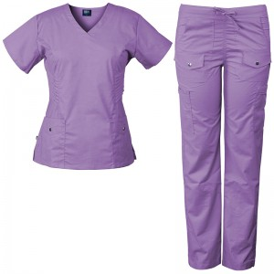 Nurse Uniform Stretch and Soft Y-Neck Top and Pants