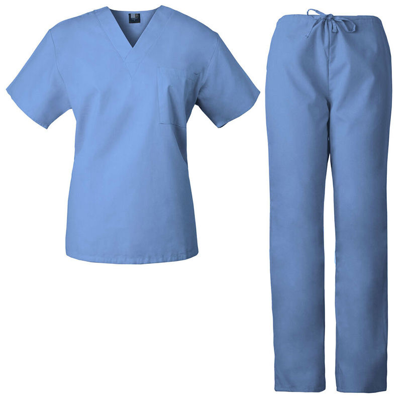 Nurse Uniform Stretch and Soft Y-Neck Top and Pants    Featured Image