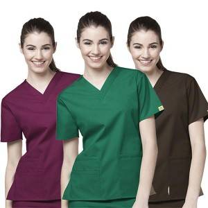 neck Nurse Uniform