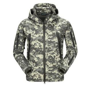 Camouflage softshell jacket
