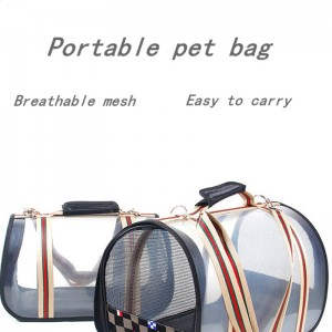 New fashion breathable pet cage foldable car bag Portable pet supplies dog go out carrying bag