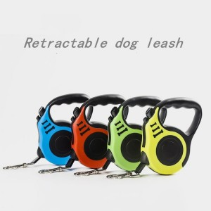 Pet traction device Dog traction rope Automatic shrink dog rope chain Comfortable and durable grip, tangled-free feeder